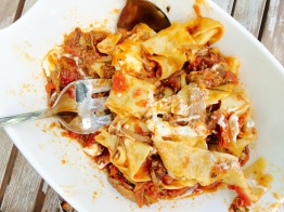 slow-braised beef pappardelle