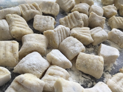 gnocchi cut and pressed