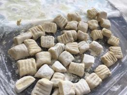 gnocchi cut and pressed