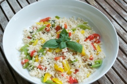 tri-pepper coconut rice