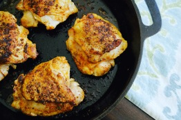 seared chicken thighs