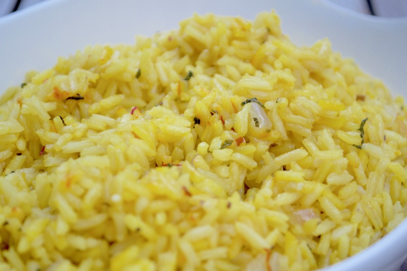 saffron rice with sage