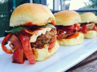 Beef and Pork Meatball Sliders