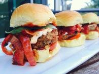 Beef and Pork Meatball Sliders