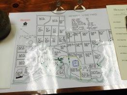 Map of Hendry Vineyard