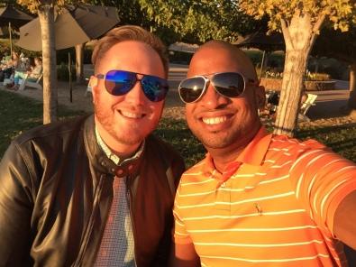 My husband Jeremiah and I enjoying the sunset