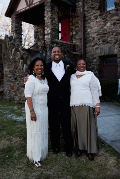 My mom, me and my granny on my wedding day